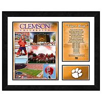 Clemson Tigers Milestones & Memories Framed Wall Art