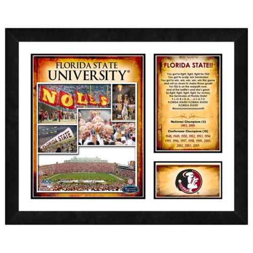 Florida State Seminoles Milestones and Memories Framed Wall Art