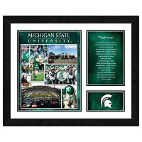 Michigan State Spartans Milestones & Memories Framed Wall Art