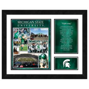 Michigan State Spartans Milestones and Memories Framed Wall Art
