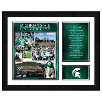 Michigan State Spartans Milestones & Memories Framed Wall Art