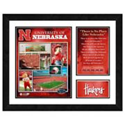Nebraska Cornhuskers Milestones and Memories Framed Wall Art