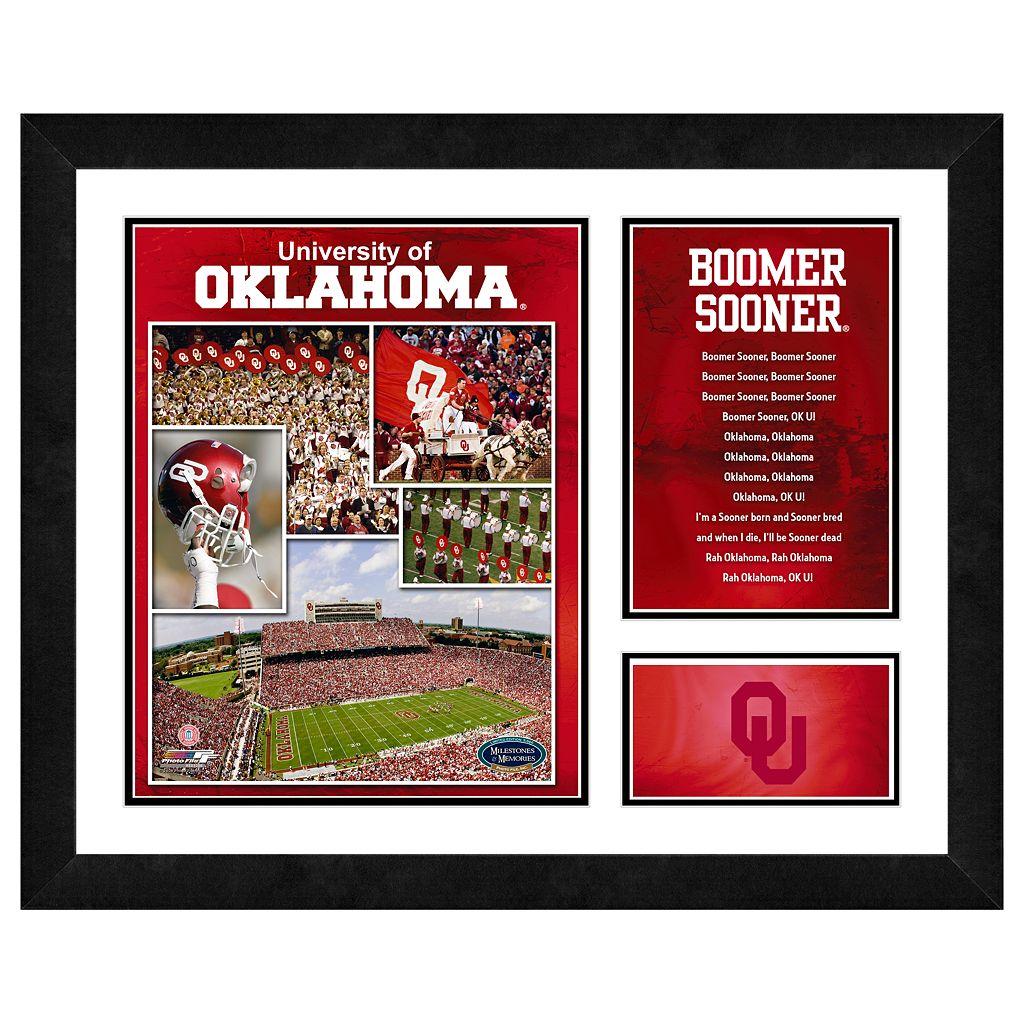Oklahoma Sooners Milestones & Memories Framed Wall Art