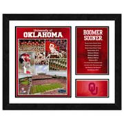 Oklahoma Sooners Milestones and Memories Framed Wall Art