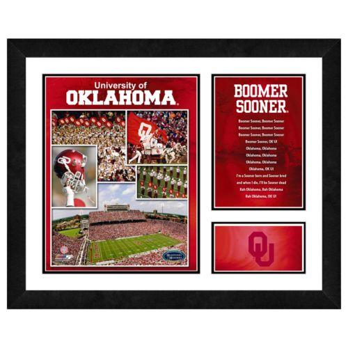 Oklahoma Sooners Milestones and Memories Framed Wall Art
