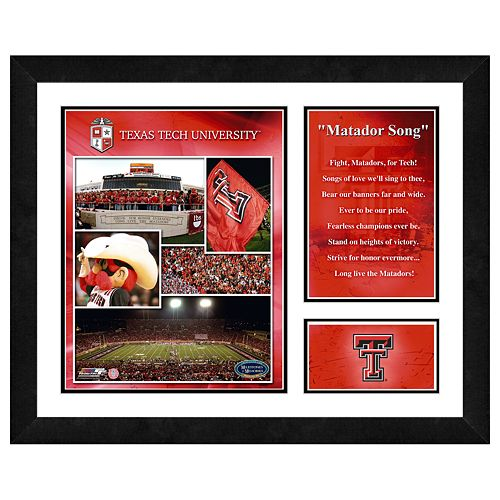 Texas Tech Red Raiders Milestones & Memories Framed Wall Art