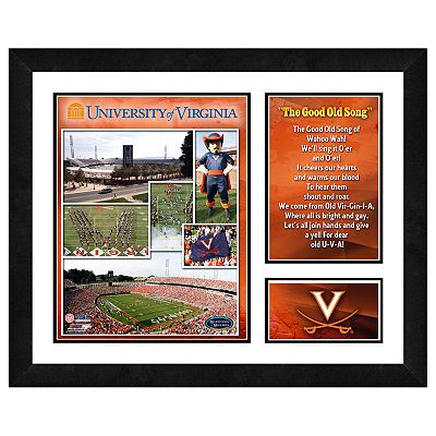 Virginia Cavaliers Milestones and Memories Framed Wall Art
