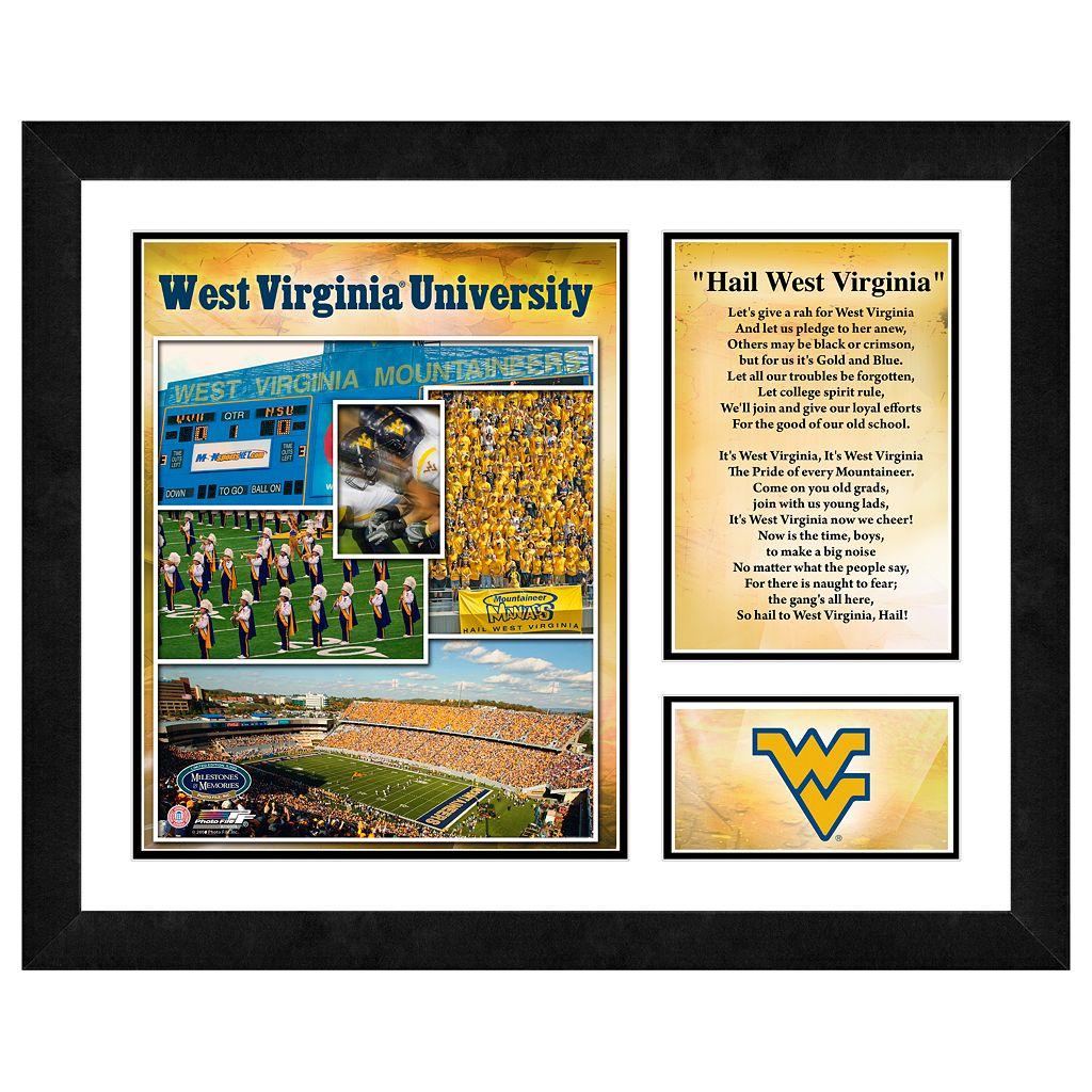 West Virginia Mountaineers Milestones & Memories Framed Wall Art