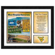 West Virginia Mountaineers Milestones & Memories Framed Wall Art