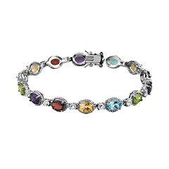 Sterling Silver Gemstone Bracelet