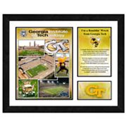Georgia Tech Yellow Jackets Milestones and Memories Framed Wall Art