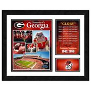 Georgia Bulldogs Milestones and Memories Framed Wall Art