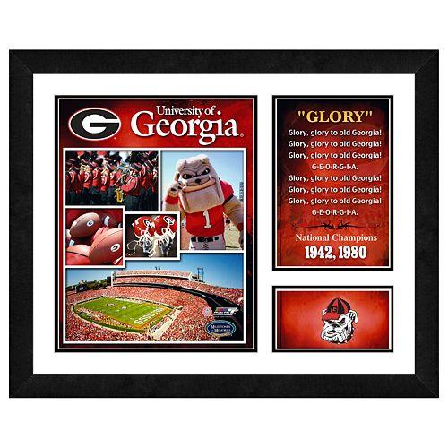 Georgia Bulldogs Milestones & Memories Framed Wall Art