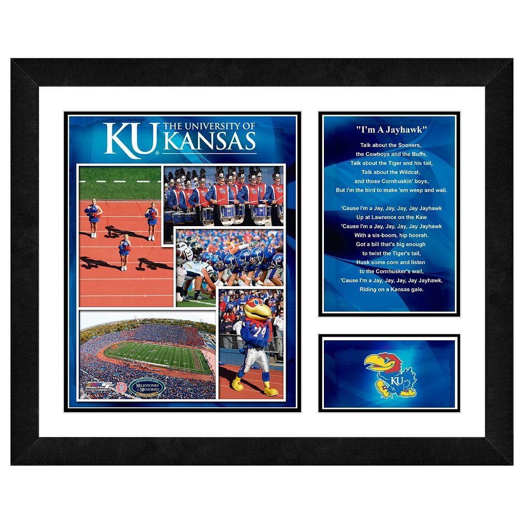 Kansas Jayhawks Milestones & Memories Framed Wall Art