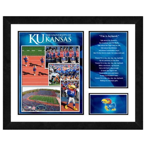 Kansas Jayhawks Milestones and Memories Framed Wall Art
