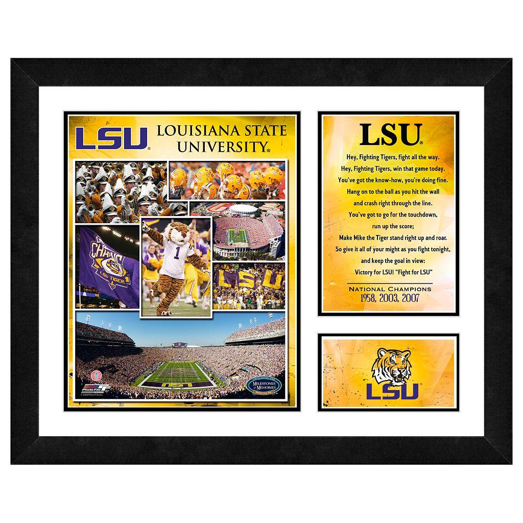 LSU Tigers Milestones & Memories Framed Wall Art