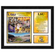 LSU Tigers Milestones & Memories Framed Wall Art