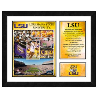LSU Tigers Milestones and Memories Framed Wall Art