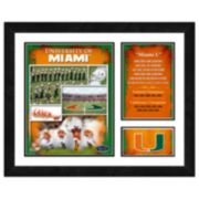 Miami Hurricanes Milestones & Memories Framed Wall Art