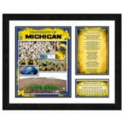 Michigan Wolverines Milestones & Memories Framed Wall Art