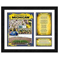 Michigan Wolverines Milestones & Memories Framed Wall Art