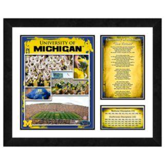 Michigan Wolverines Milestones and Memories Framed Wall Art
