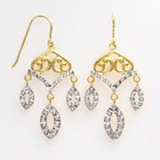 Diamond Mystique 18k Gold-Over-Silver Diamond Accent Chandelier Earrings