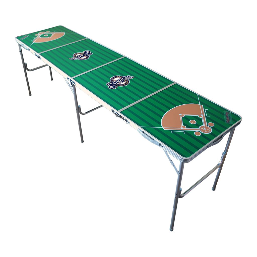 Milwaukee Brewers 2' x 8' Tailgate Table