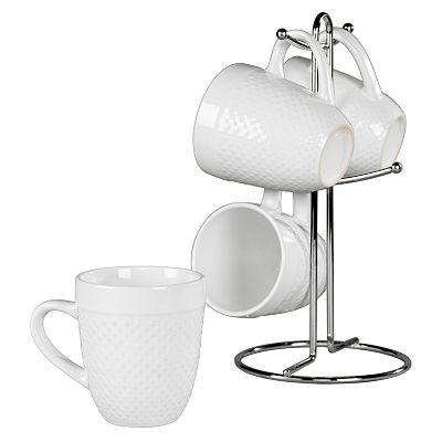Tabletops Gallery Hobnail 5-pc. Coffee Mug Set