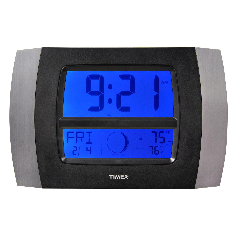 timex wireless weather u0026 atomic digital wall clock