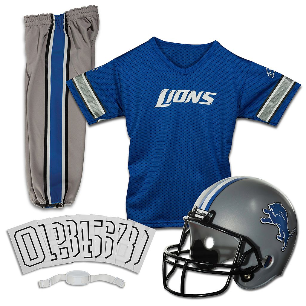 Franklin Detroit Lions 3-pc. Football Uniform