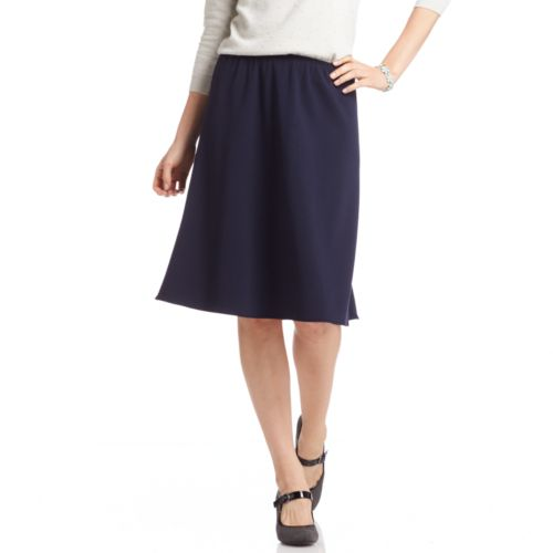 Sag Harbor Solid A-Line Skirt - Women's