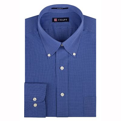 Chaps Classic-Fit Broadcloth Solid Button-Down Collar Dress Shirt