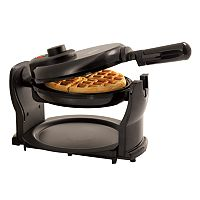BELLA 13591 Classic Rotating Non-Stick Belgian Waffle Maker with Removeable Drip Tray & Folding Handle (Pro Black)