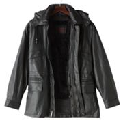 Excelled Hooded Leather Parka - Big & Tall