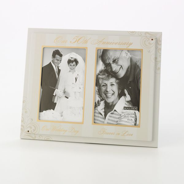 Wedding Anniversary Gifts 1-100 : Malden 50th Anniversary 2-Opening Collage Frame