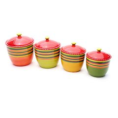 Certified International Hot Tamale 4 pc Kitchen Canister Set
