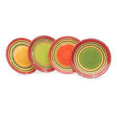 Certified International Hot Tamale 4 pc Salad Plate Set