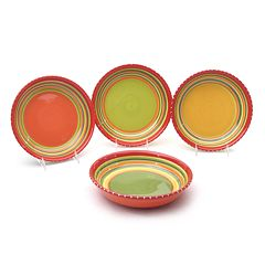 Certified International Hot Tamale 4 pc Soup Bowl Set