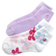 Earth Therapeutics 2-pk. Dip-Dyed and Solid Aloe Socks