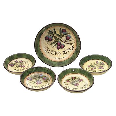 Certified International Garden of Olives 5-pc. Pasta Bowl Set