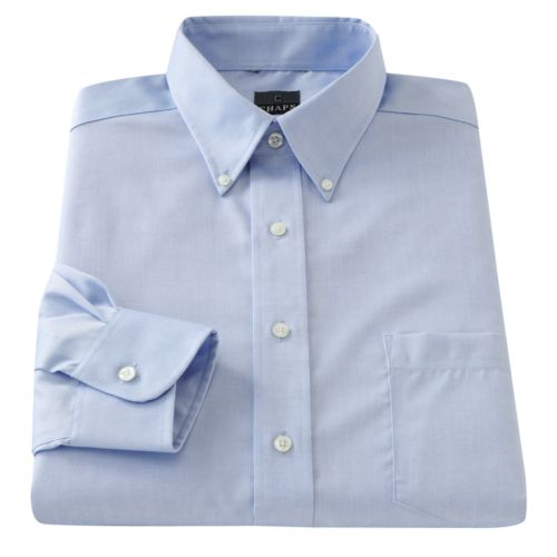 Chaps Classic-Fit Solid Non-Iron Button-Down Collar Dress Shirt