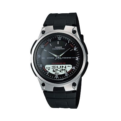 Casio Forester Illuminator Databank Analog and Digital Chronograph Watch - Men