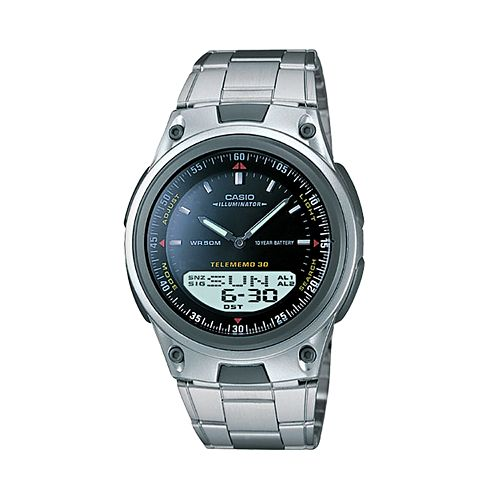Casio Men's Forester Illuminator Analog & Digital Databank Chronograph Watch - AW80D-1AV