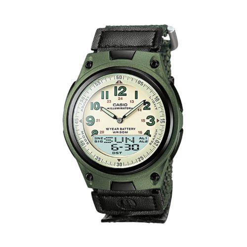 Casio Illuminator Databank World Time Analog and Digital Chronograph Watch - Men