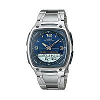Casio Men's Illuminator World Time Analog & Digital Databank Chronograph Watch - AW81D-2AV
