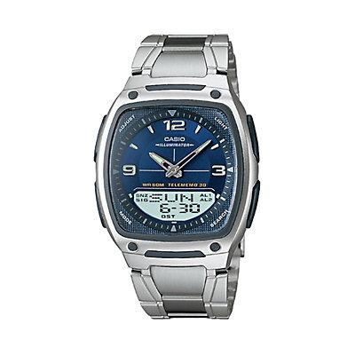 Casio Men's Illuminator World Time Analog & Digital Databank Chronograph Watch - AW81D-2AV