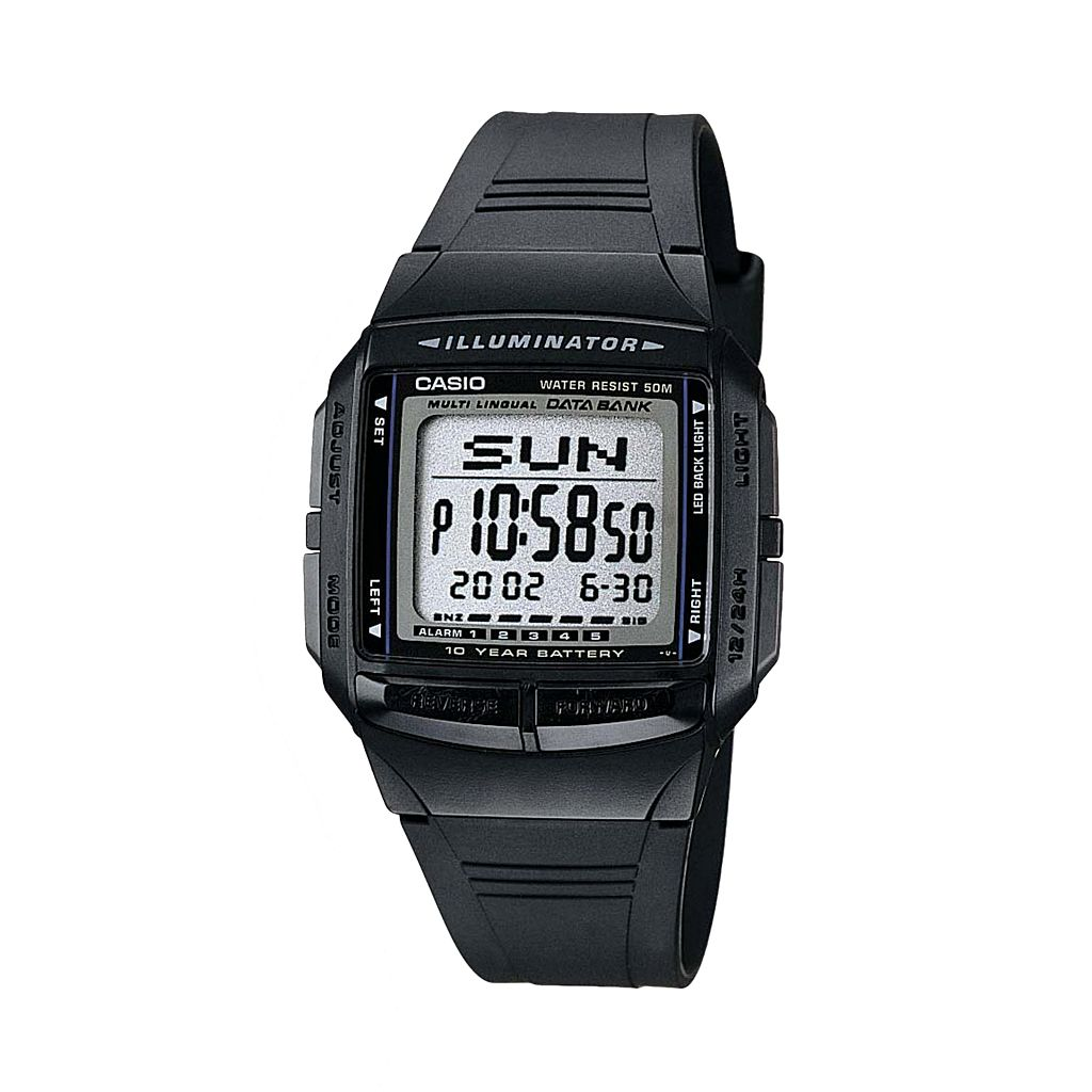 Casio Men's Illuminator Multilingual Digital Databank & Chronograph Watch - DB36-1AV