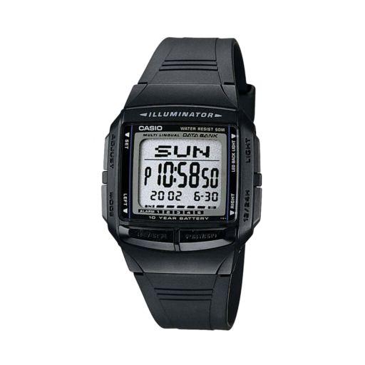 Casio Men's Illuminator Multilingual Digital Databank & Chronograph Watch - DB36-1AV
