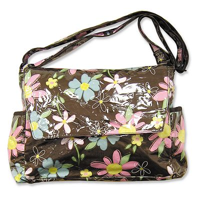 Trend Lab Blossoms Messenger Diaper Bag
